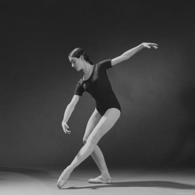 "Photograph Taken Using a 4th Light Source on Ballerina Executing a ""Croise En Avant"" Movement"