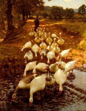 The Watersplash, c. 1899 by Henry Herbert La Thangue