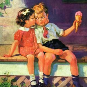"""Kiss for Ice Cream,""June 1, 1936 by Henry Hintermeister"
