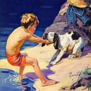 """Pooch Doesn't Want to Swim,""September 1, 1934 by Henry Hintermeister"
