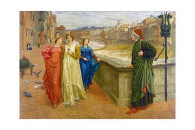Dante and Beatrice in Florence by Henry Holiday