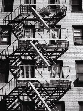 Fire Escape on Apartment Building by Henry Horenstein