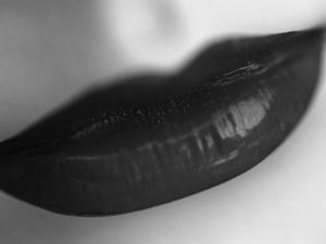 Woman's Lips by Henry Horenstein