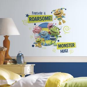 Henry Hugglemonster Family Wall Graphix Peel and Stick Giant Wall Decals