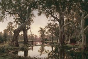 Evening Shadows, Backwater of the Murray, South Australia, 1880 by Henry James Johnstone