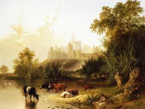 A View of Windsor Castle from the Thames by Henry John Boddington