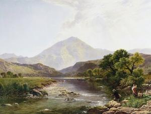 Moel Hebog from the Stepping Stone, Wales by Henry John Boddington