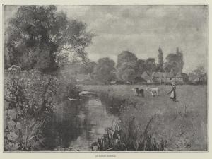 An English Pastoral by Henry John Yeend King