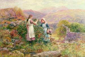 Blackberry Gatherers by Henry John Yeend King