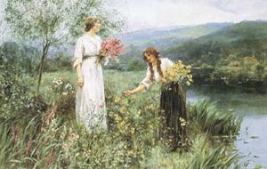 Gathering Flowers by Henry John Yeend King