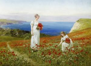 Gathering Poppies by Henry John Yeend King