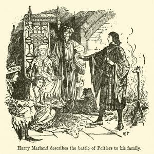 Harry Marland Describes the Battle of Poitiers to His Family by Henry Justice Ford