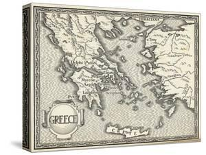 Map of Ancient Greece by Henry Justice Ford