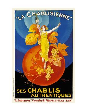 La Chablisienne Ses Chablis Authentiques, 1926 by Henry Le Monnier