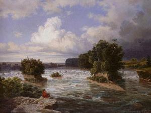 St. Anthony Falls as it Appeared in 1848, 1855 by Henry Lewis