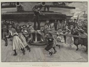 A Mery-Go-Round on a Battleship by Henry Marriott Paget