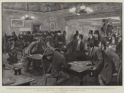 A Police Raid on a West-End Betting Club