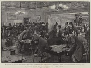 A Police Raid on a West-End Betting Club by Henry Marriott Paget