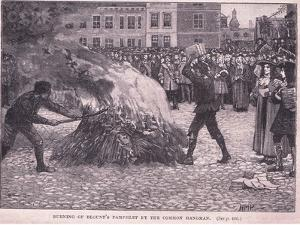 Burning of Blount's Pamphlets by the Common Hangman by Henry Marriott Paget