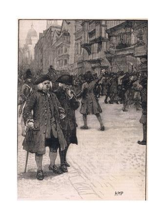 Dr Johnson Viewing the Scene of the 'No Poery Riots' Ad 1780