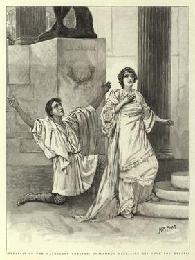 Hypatia at the Haymarket Theatre, Philammon Declaring His Love for Hypatia by Henry Marriott Paget