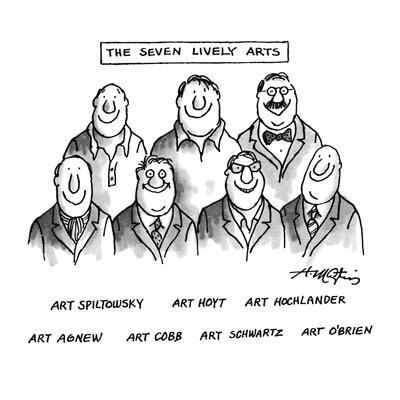 The Seven Lively Arts - New Yorker Cartoon