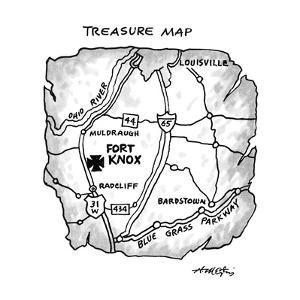 Treasure Map - New Yorker Cartoon by Henry Martin