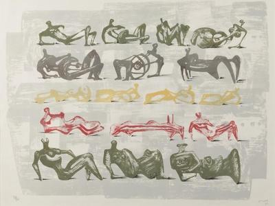 17 Reclining Figures, 1963