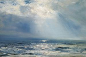 A Sunbeam over the Sea, 1890 (Oil on Panel) by Henry Moore