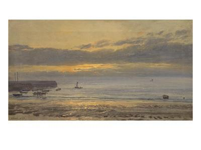 Before Sunrise, Scarborough - Low Water, 1878