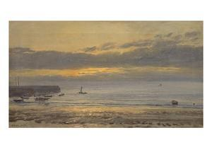 Before Sunrise, Scarborough - Low Water, 1878 by Henry Moore