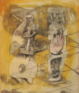 Drawing for Sculpture: Two Women, 1939 by Henry Moore