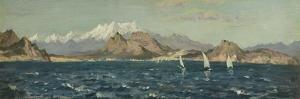 The Gulf of Rosas (Oil on Board) by Henry Moore