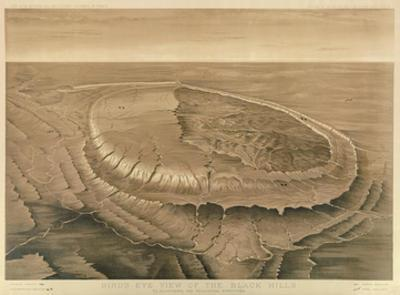Bird's Eye View of the Black Hills, c.1879