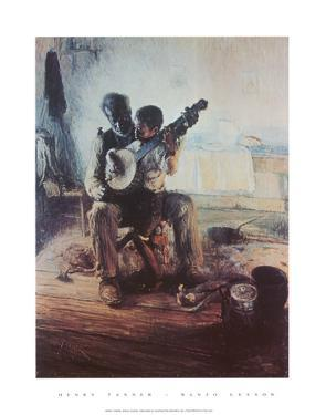 Banjo Lesson by Henry Ossawa Tanner
