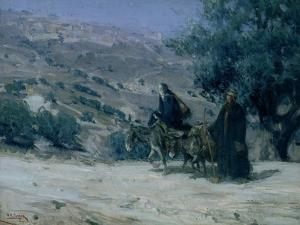 Flight into Egypt, 1899 by Henry Ossawa Tanner