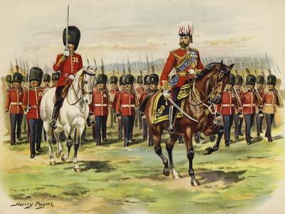 King George V as Prince of Wales Leading His Regiment, the Royal Fusiliers, at Aldershot