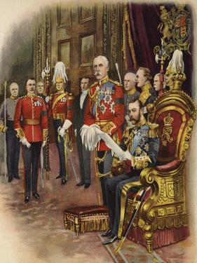 King George V Holds His First Court, May 1910 by Henry Payne
