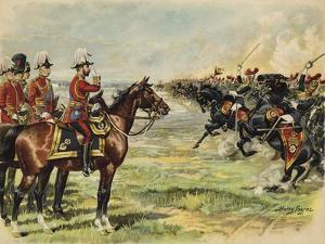 King George V Reviewing His Troops at Aldershot by Henry Payne