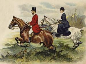 The Prince and Princess of Wales in the Hunting Field by Henry Payne