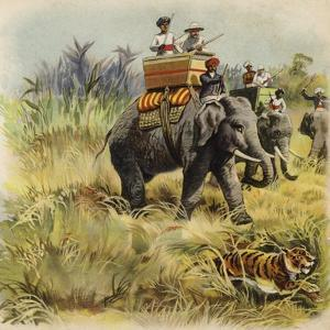 The Prince of Wales Tiger Hunting in India by Henry Payne