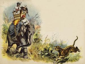 The Prince of Wales Tiger Shooting During the Royal Tour in India, 1905 by Henry Payne