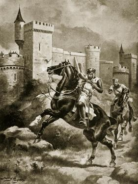 The Siege of Chaluz, Illustration from 'Hutchinson's Story of the British Nation', C.1920 by Henry Payne