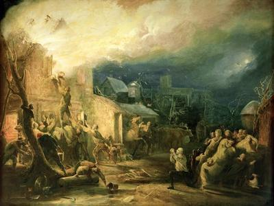 The Rescue of John Wesley from the Epworth Rectory Fire, 1840
