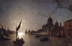 Moonlight on the Grand Canal, Venice by Henry Pether