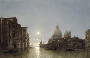 The Grand Canal by Moonlight by Henry Pether