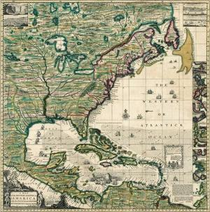 America Septentrionalis A Map of the British Empire in America, c.1733 by Henry Popple