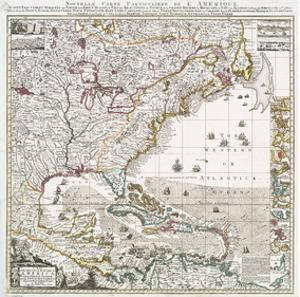 American colonial period posters for sale at allposters map of british empire 1733 by henry popple gumiabroncs Choice Image