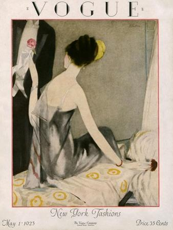 Vogue Cover - May 1923 by Henry R. Sutter