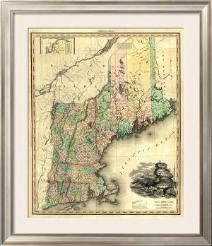 Maine, New Hampshire, Vermont, Massachusetts, Connecticut and Rhode Island, c.1823 by Henry S. Tanner